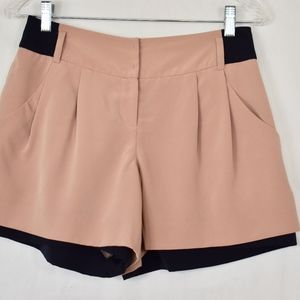 Dia Dressy Shorts, Blush and Navy S (D64)